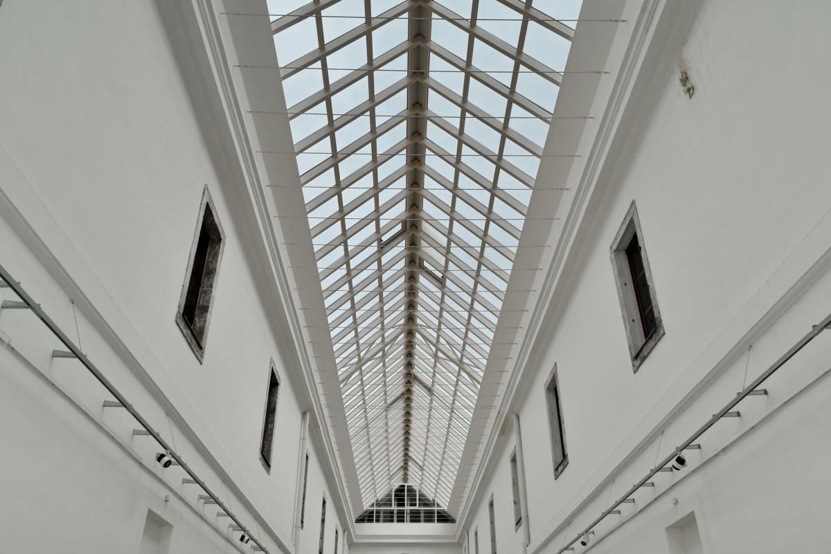 Atrium, glass, gangen, interiørdesign, hvit, vinduet, bygge, arkitektur, rammeverk, innendørs