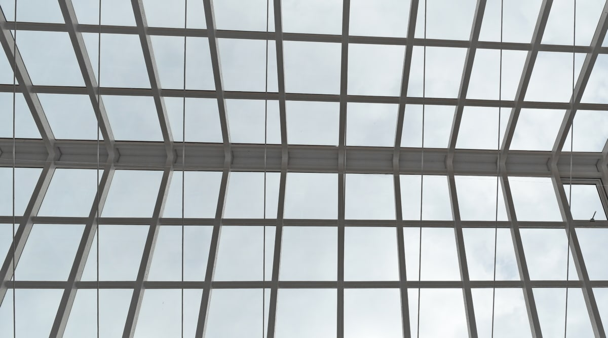 atrij, krov, prozori, staklo, zgrada, prozor, arhitektura, moderne, geometrijski, čelik