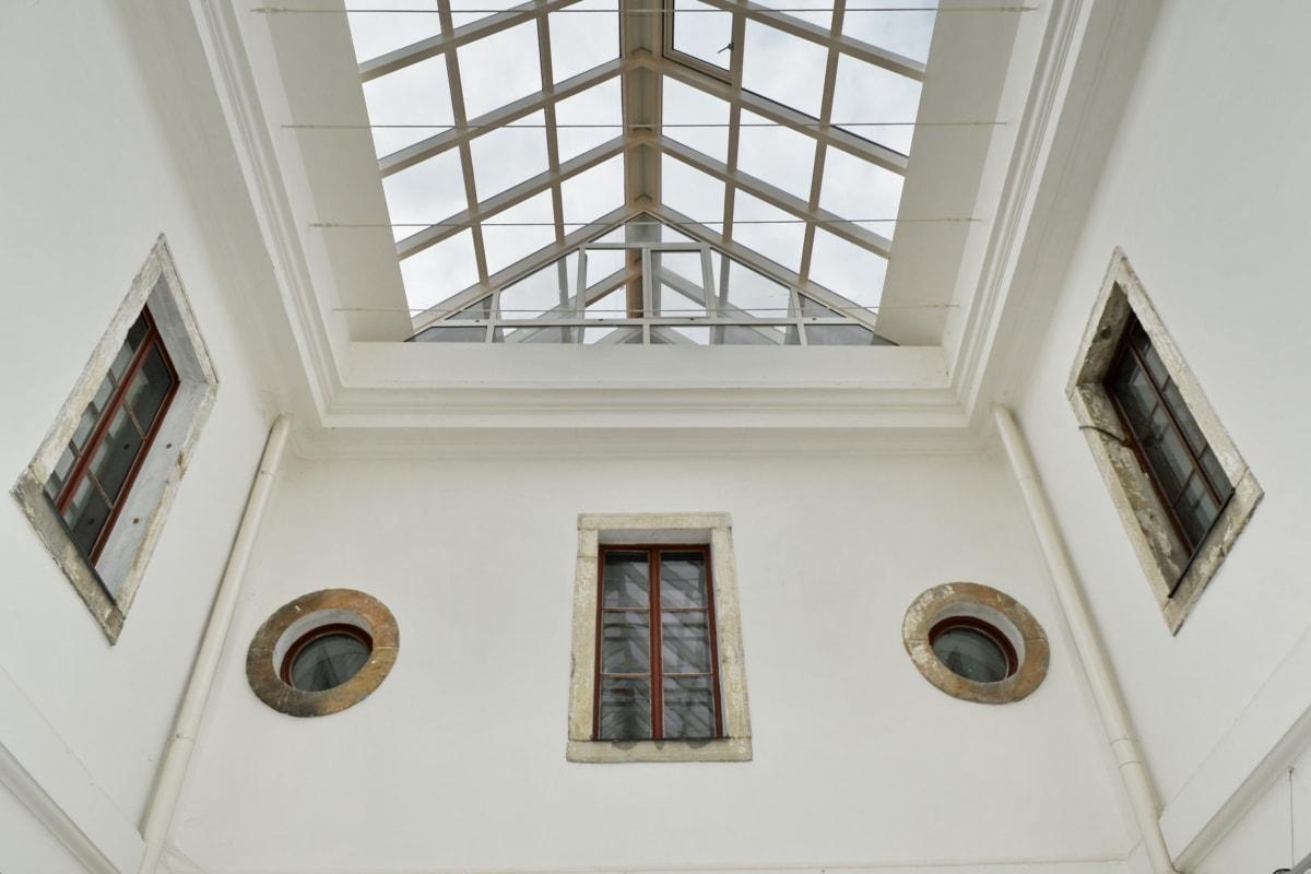 arkitektoniske stil, Atrium, Museum, perspektiv, vegg, vindu, innendørs, rammeverk, taket, bygge