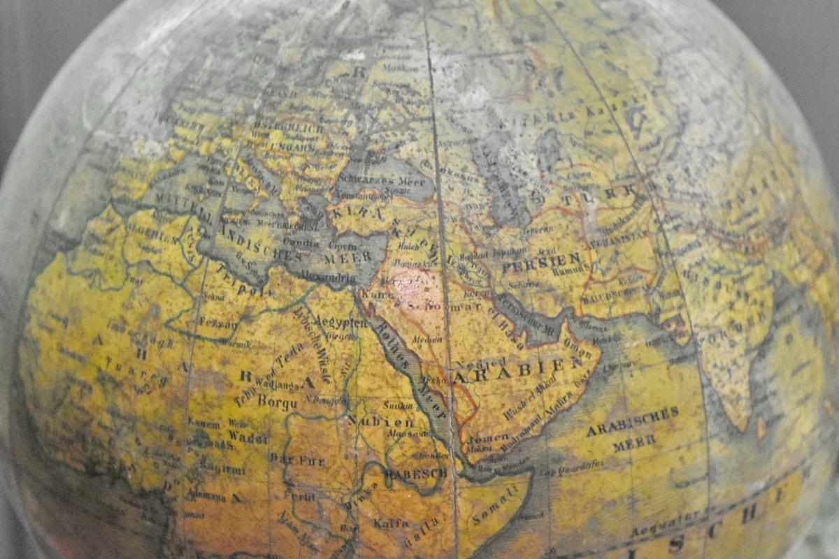 representasjon, antikk, verden, kart, Atlas, geografi, gamle, verden, natur, sfære