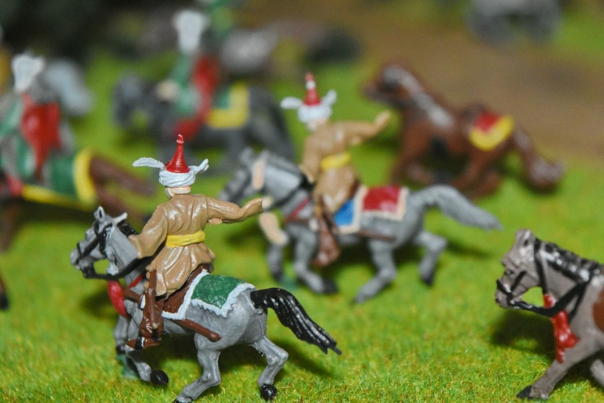 bitka, bojno polje, utrke konja, konji, orijentalni, Otomansko, igračke, ljudi, čovjek, akcija
