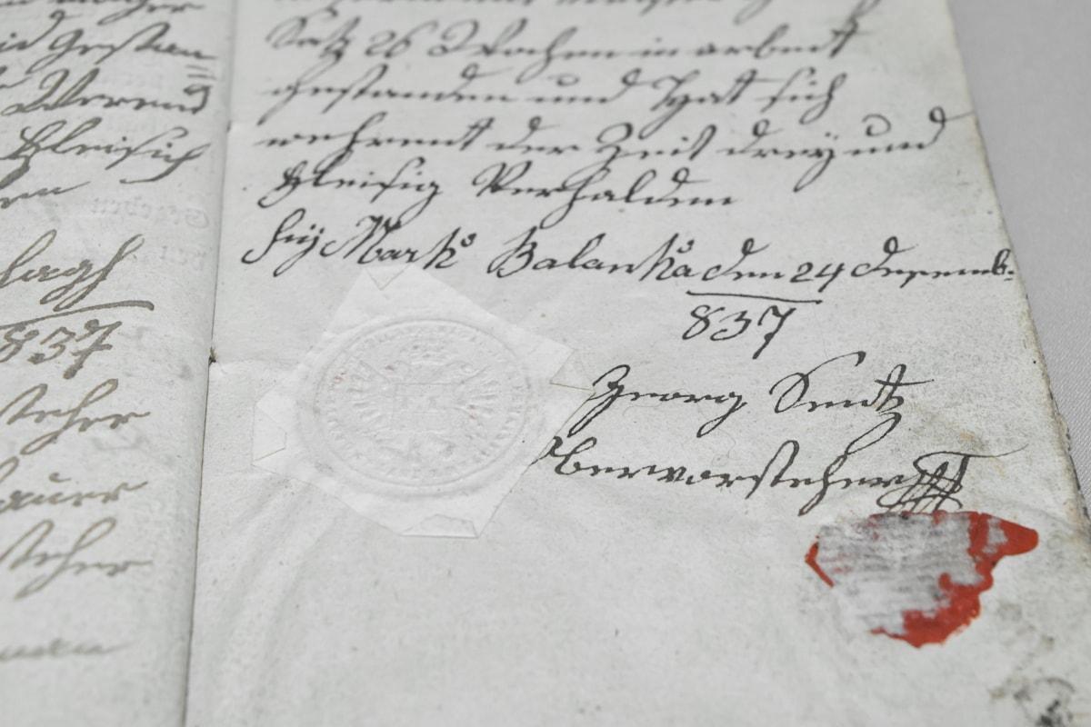 Antik dönem, el yapımı, tarihi, mürekkep, mektup, sayfa, kağıt, Belge, metin, yazma
