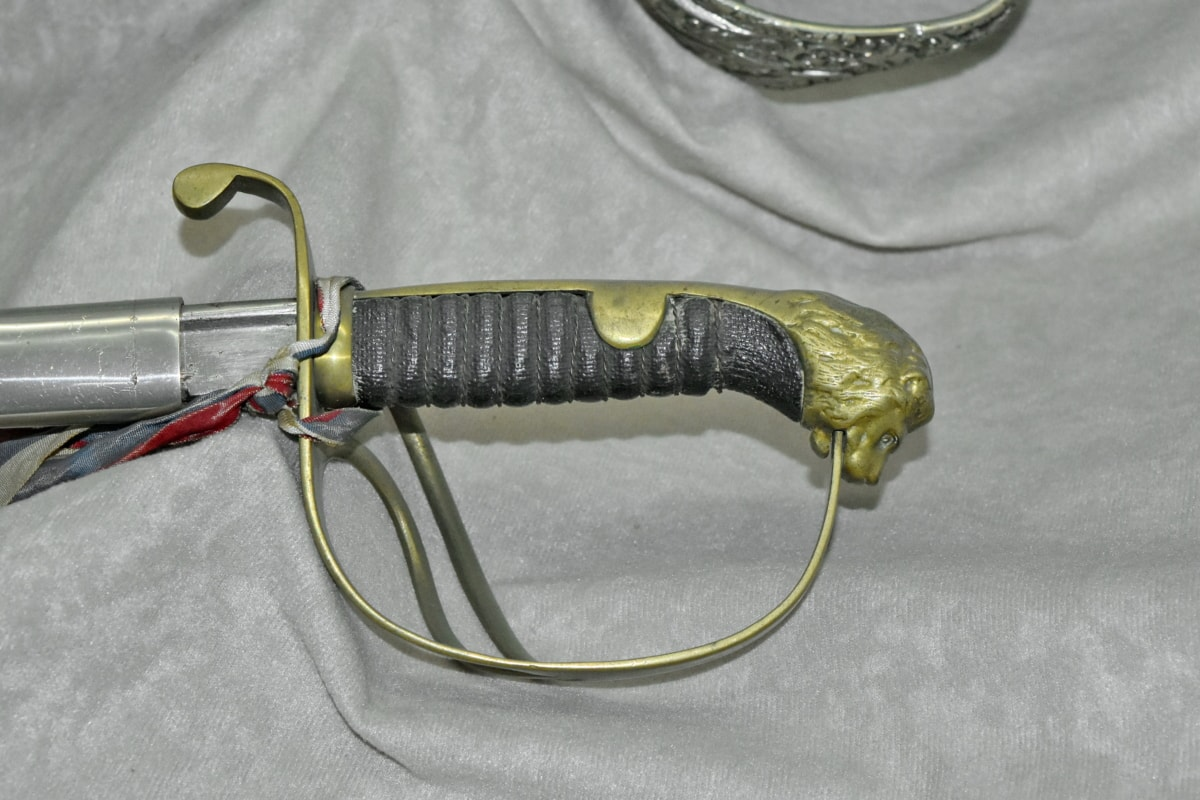 histoire, Musée, épée, arme, en acier, antique, protection, fer, vieux, militaire
