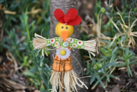 doll, nature, summer, leaf, grass, outdoors, garden, decoration, color, traditional