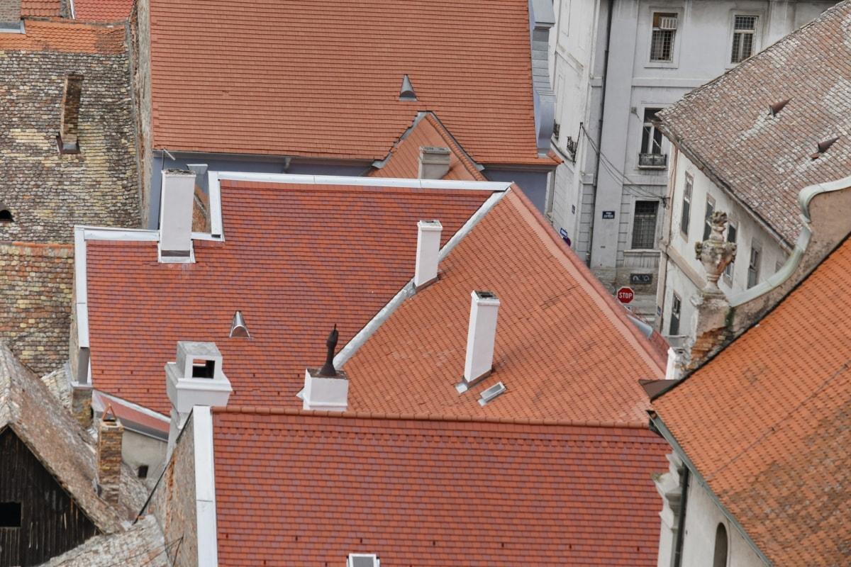 mimari, Çatı kaplama, çatı, kiremit, ev, Bina, eski, duvar, tuğla, Ana sayfa