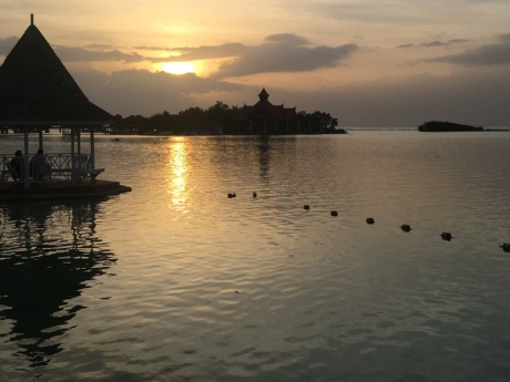 Asia, resort area, shore, sunset, water, lakeside, dawn, reflection, lake, beach