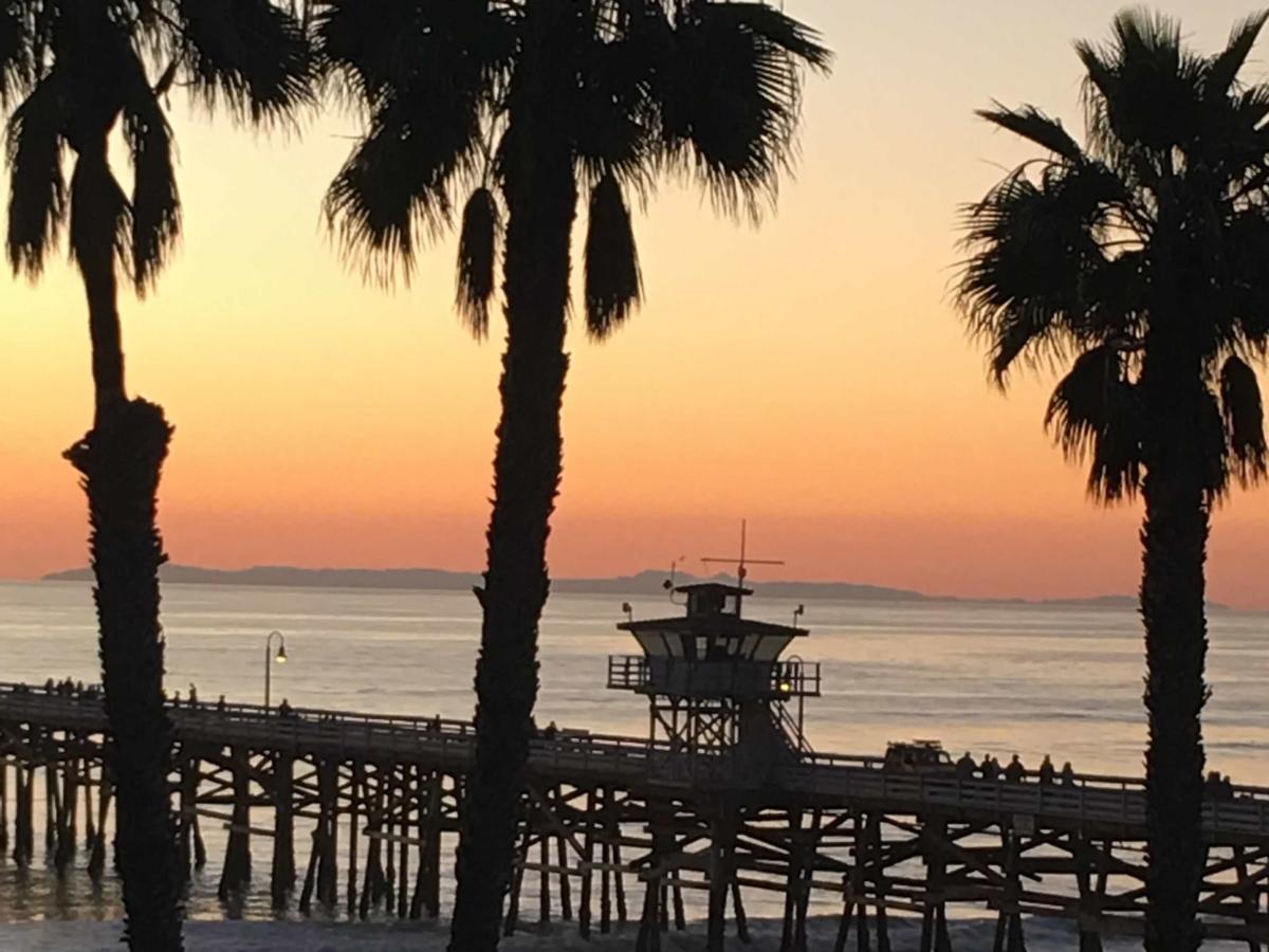 solnedgang, palmu, Ø, ferie, havet, mole, ocean, tropisk, strand, solen
