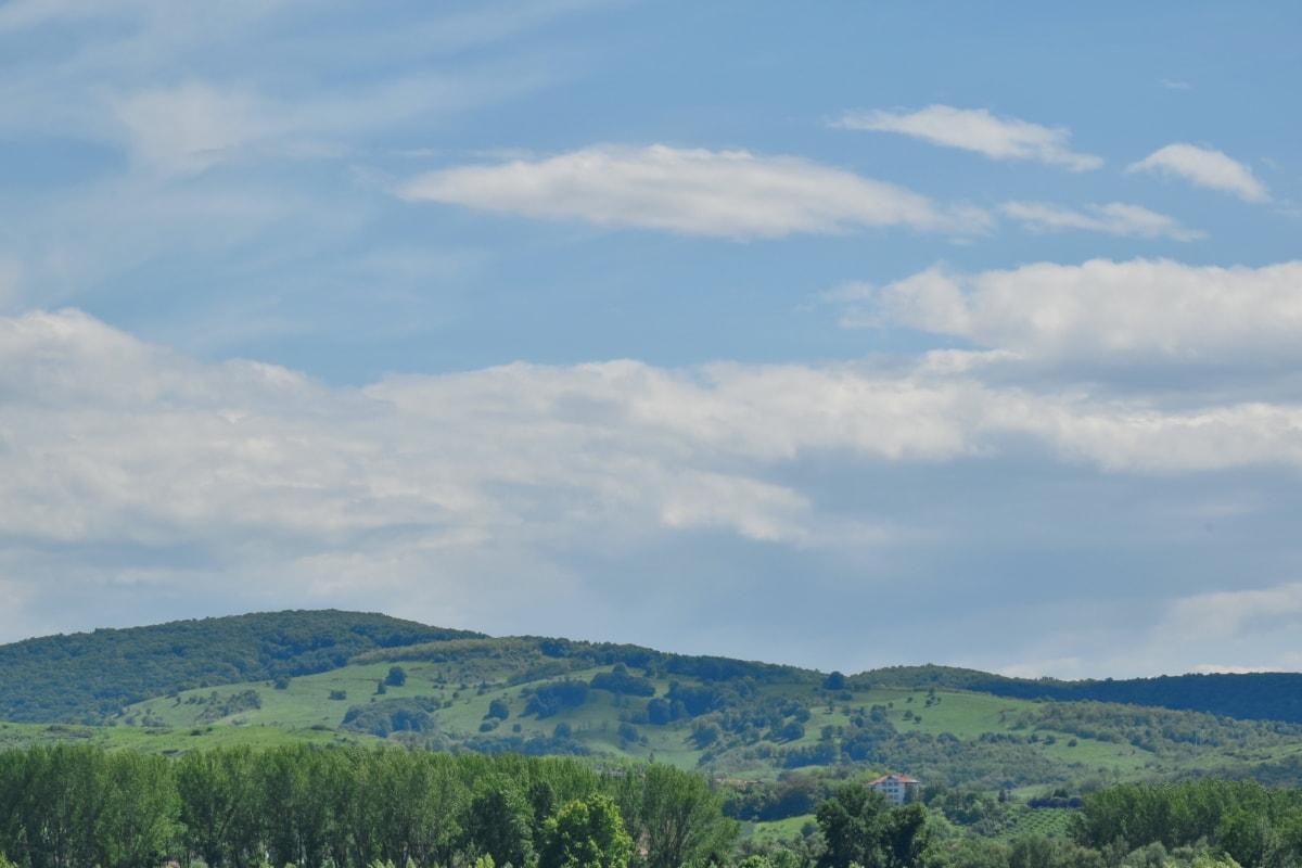 hmla, stráň, hory, vrch, rozsah, Príroda, príroda, vysočina, letné, vidiek
