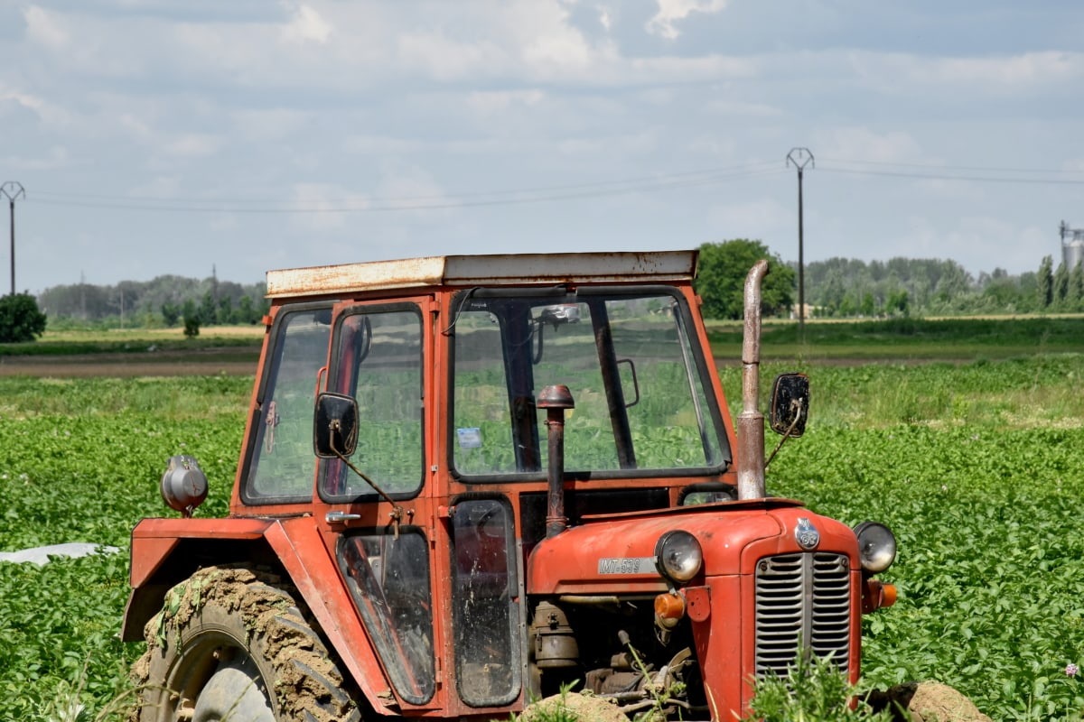 mezőgazdasági, traktor, jármű, gépek, gép, talaj, mezőgazdaság, farm, vidéki, Föld