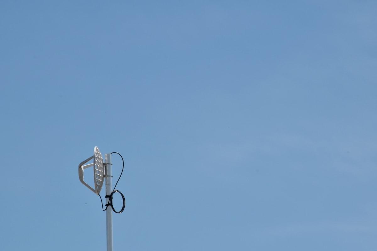 antenn, radioantenn, radiomottagare, naturen, hög, blå himmel, Utomhus, vind, elektricitet, ljus