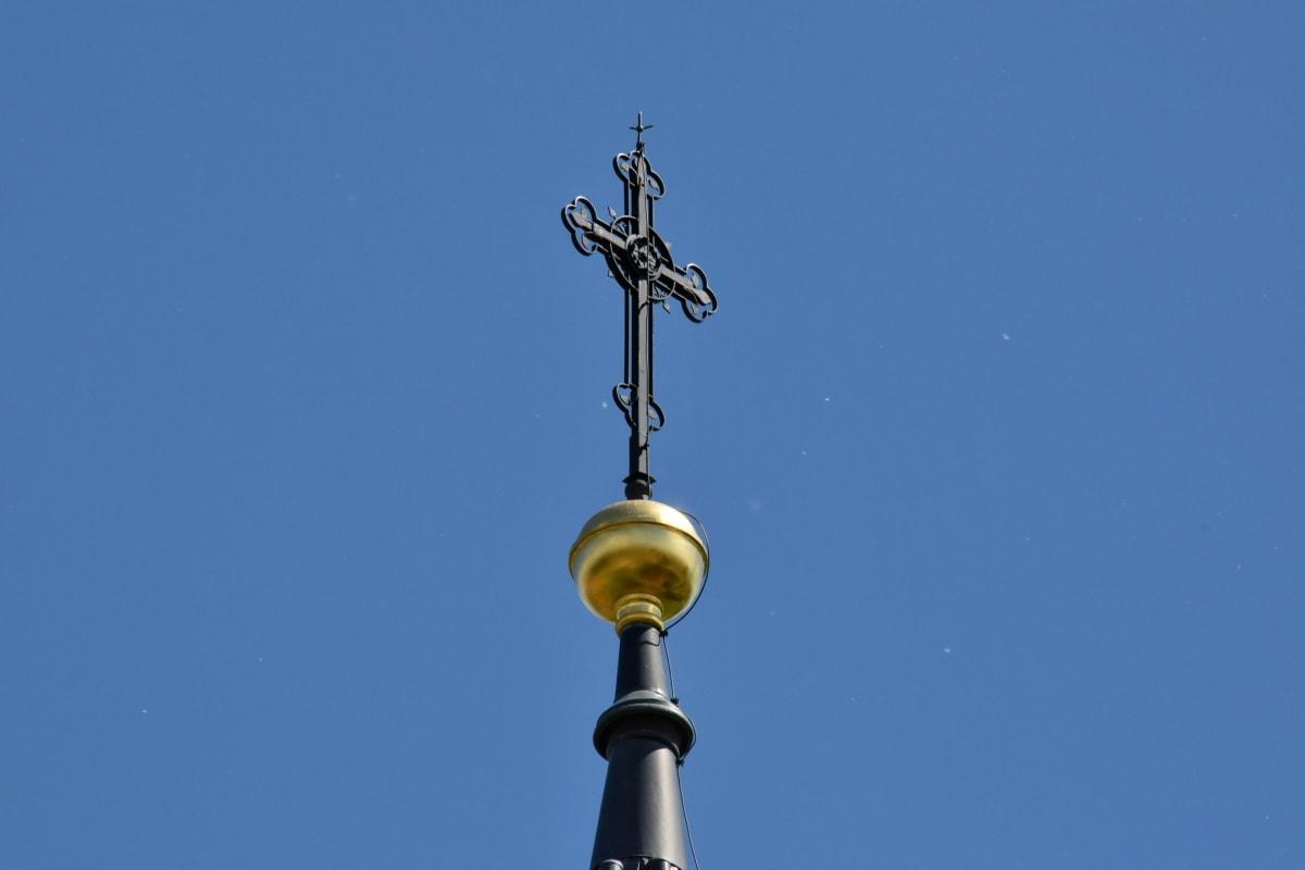 месинг, християнството, кръст, ръчно изработени, архитектура, стар, църква, религия, изкуство, град