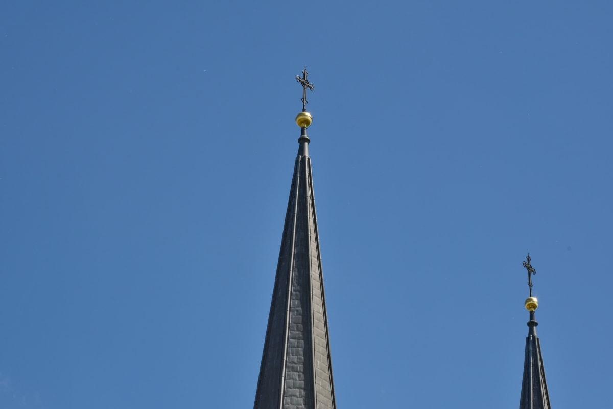 kirketårnet, dagslys, Gotisk, kirke, arkitektur, religion, gamle, tårnet, kunst, katedralen