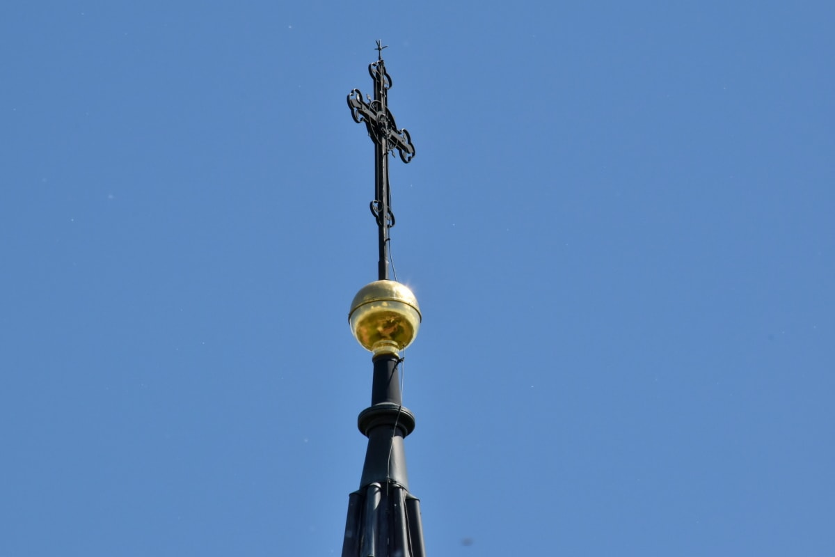 Nhà thờ, thông tin chi tiết, ánh nắng mặt trời, kiến trúc, cũ, ngoài trời, bầu trời xanh, tôn giáo, Thành phố, nghệ thuật