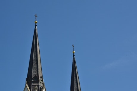 catholic, church tower, cross, cathedral, architecture, device, church, religion, old, tower