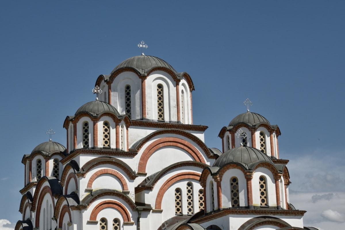 наследие, Православные, Церковь, Архитектура, Старый, фасад, купол, Построение, Религия, Кафедральный собор