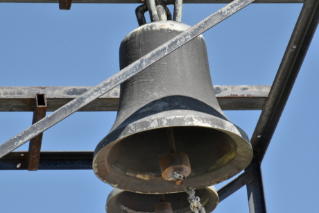 bell, cast iron, orthodox, religious, old, steel, iron, antique, architecture, outdoors