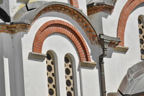 arch, Byzantine, windows, structure, building, architecture, outdoors, church, old, traditional