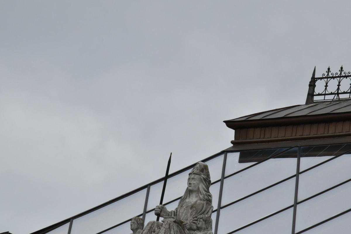 混凝土, 玻璃, 屋顶, 雕塑, 体系结构, 塔, 城市, 桥梁, 城市, 构建
