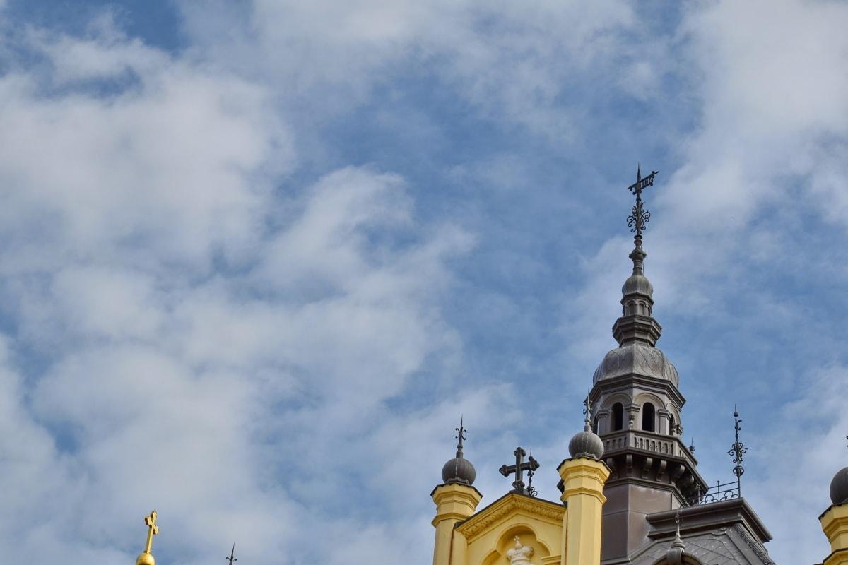 katedrála, Architektúra, náboženstvo, dome, budova, kostol, vonku, oblak, tradičné, spiritualita