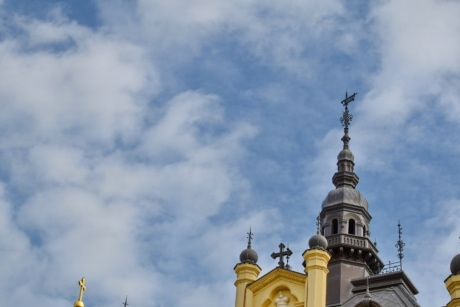 cathedral, architecture, religion, dome, building, church, outdoors, cloud, traditional, spirituality