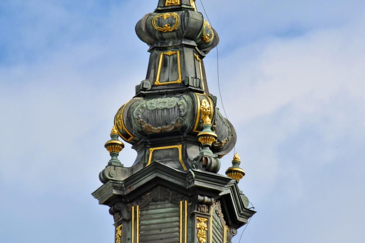 veža kostola, kríž, chrám, kostol, staré, Architektúra, Staroveké, tradičné, Kultúra, Socha
