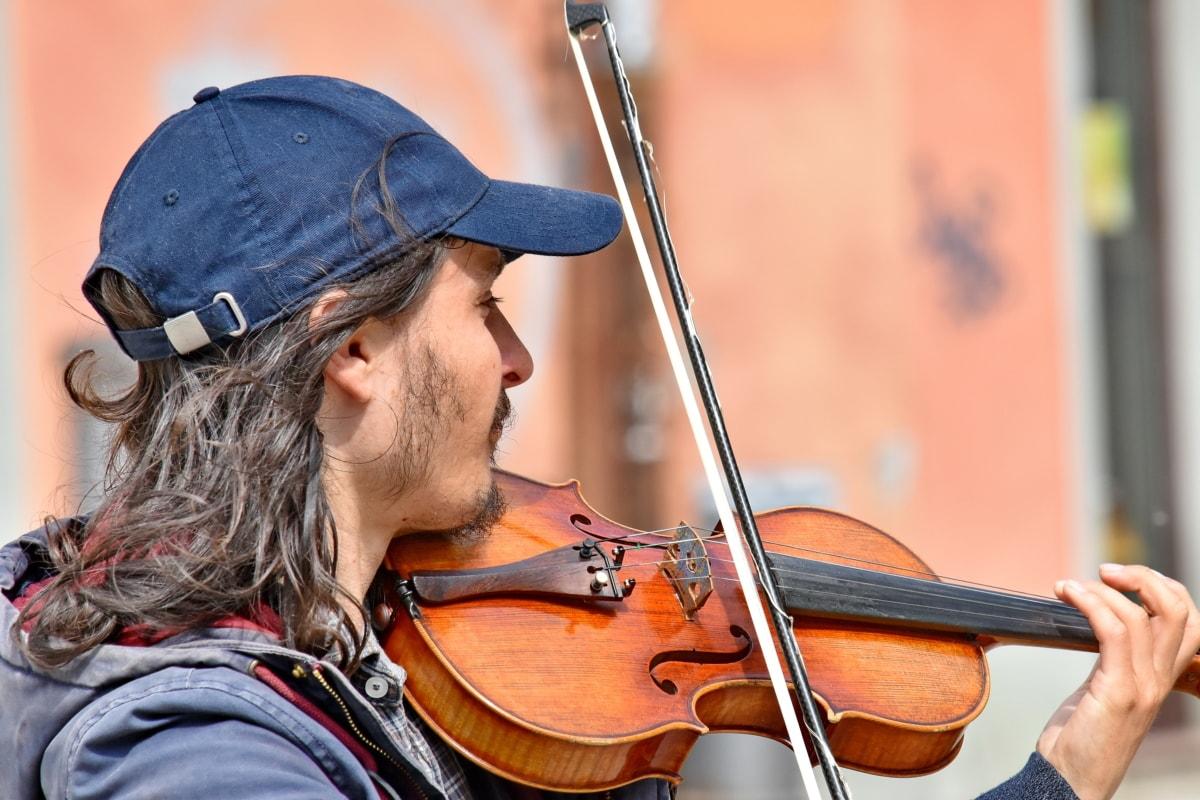 художник, портрет, інструмент, скрипка, музикант, музика, класичний, на відкритому повітрі, концерт, художні