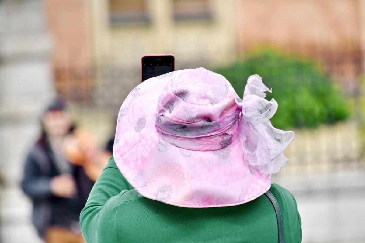 borrosas, moda, Hat, ropa, mujer, vertical, al aire libre, calle, naturaleza, Ciudad