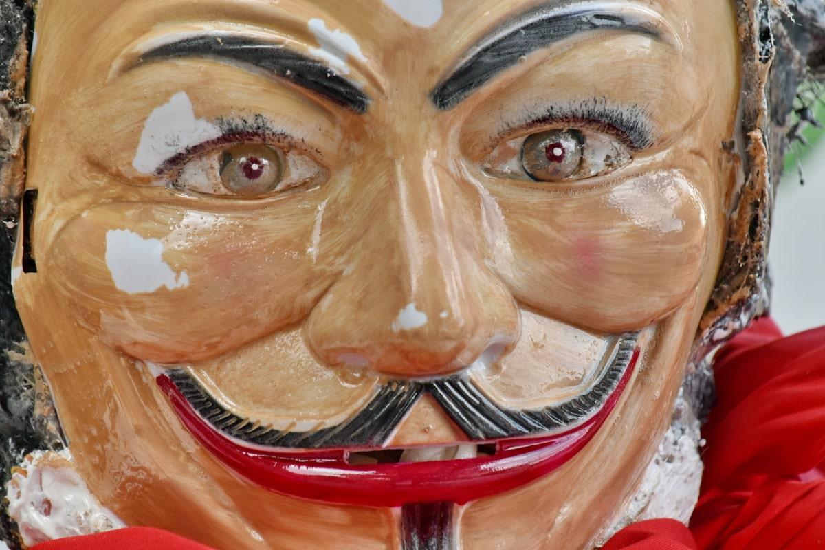 sporák, objekt, plastové, maska, obličej, umění, zábava, portrét, oko, tradiční