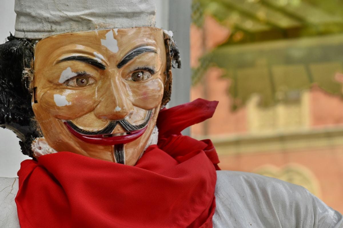 varič, dekorácie, plast, maska, krytina, portrét, muž, zábava, vonku, tvár