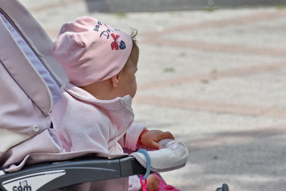 bayi, masa kanak-kanak, pakaian, merah muda, di luar rumah, Manis, rekreasi, kepolosan, Duduk, Ayu