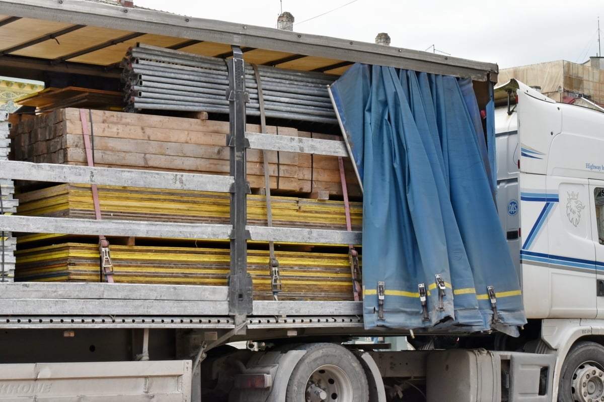 cargo, shipment, trailer, industry, truck, logistics, transport, heavy, business, vehicle