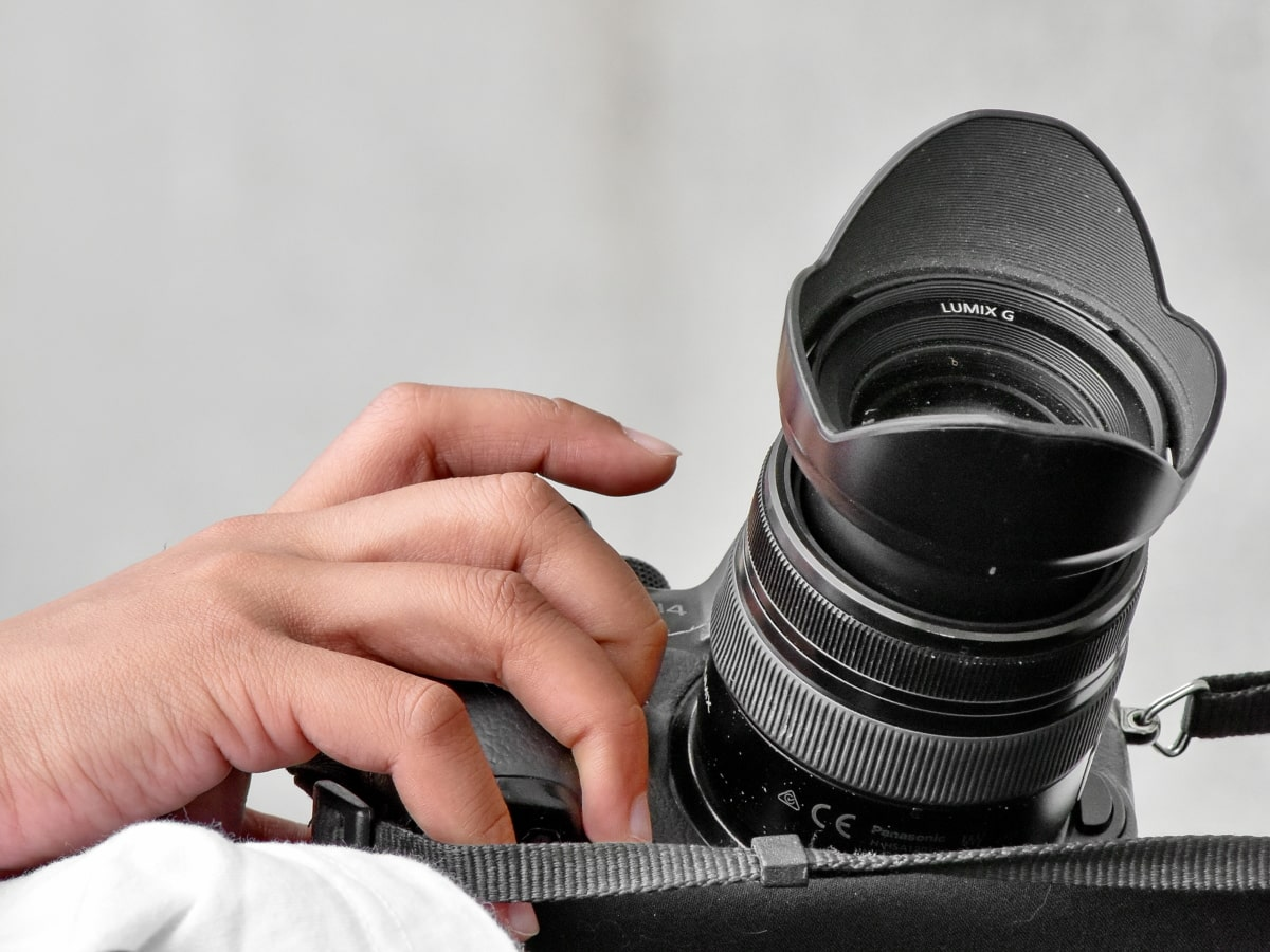 kamera, käsi, Paparazzi, valokuvaaja, ammatillinen, linssi, elektroniikka, aukko, tekniikka, koneet