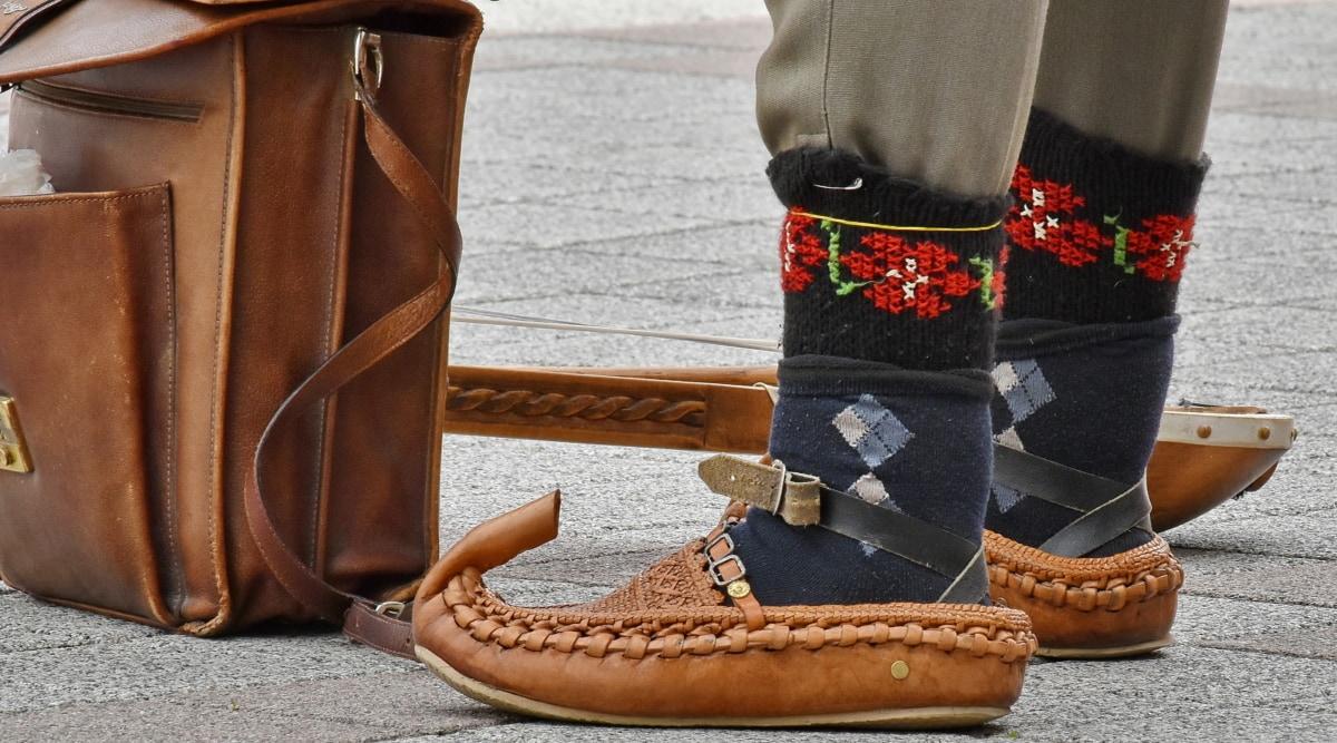 antičko doba, stopala, cipela, cipele, obuća, koža, modni, klasični, retro, elegantan