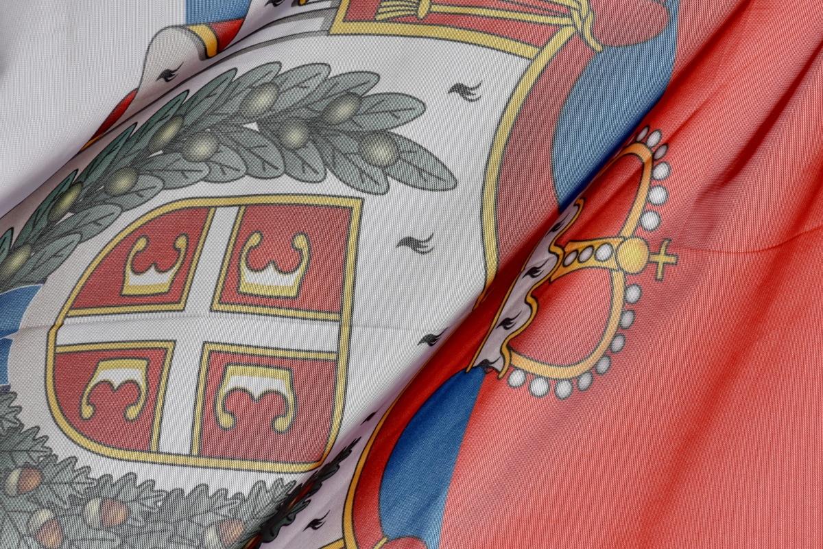 Crown, demokracia, vlajka, dedičstvo, Srbsko, textil, umenie, dizajn, vzor, Farba