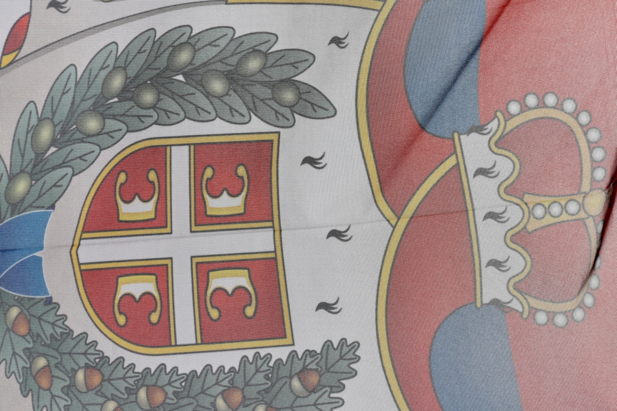 kroon, democratie, Democratische Republiek, detail, vlag, Servië, kunst, illustratie, ontwerp, decoratie