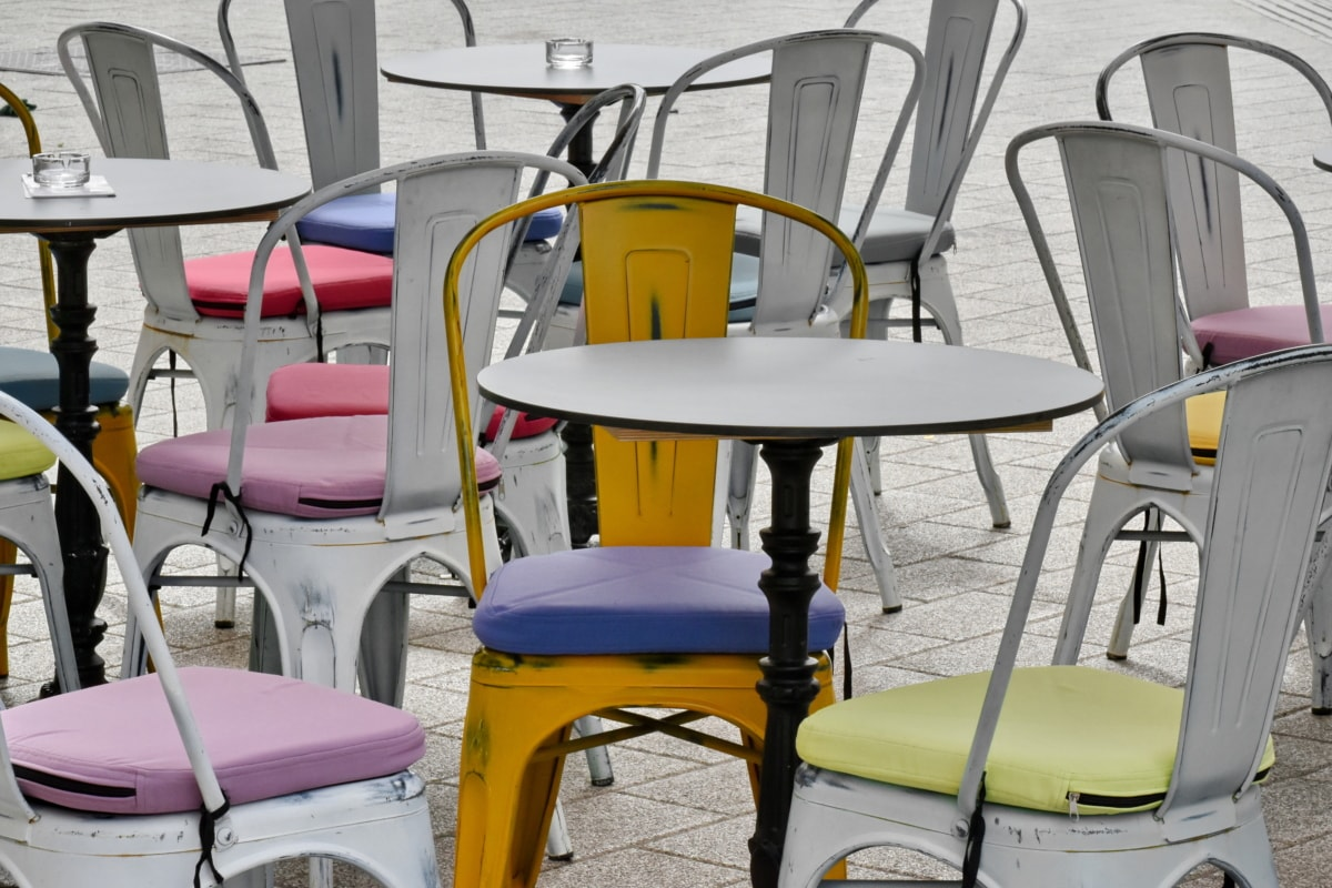 metal, vintage, seat, chair, summer, furniture, vacation, outdoors, table, classic
