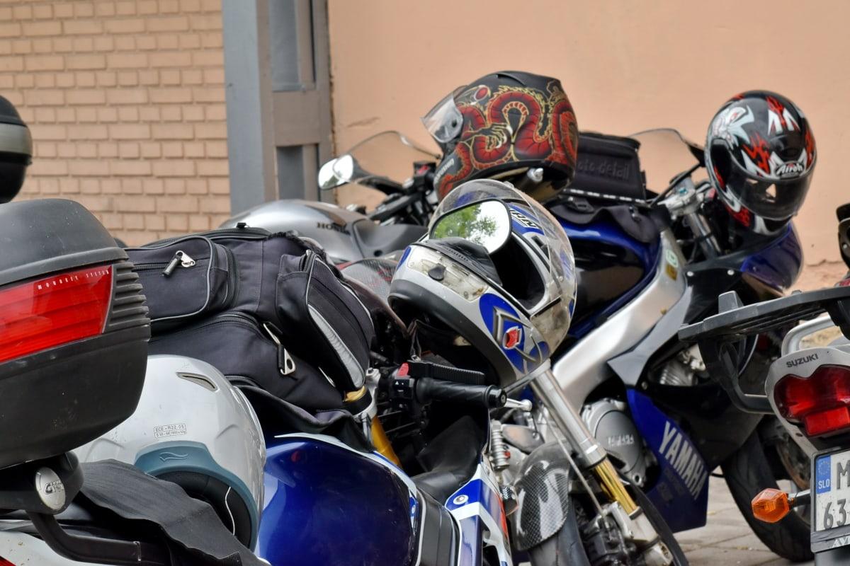 moto, Parque de estacionamento, veículo, moto, rua, passeio, concorrência, helicóptero, roda, vintage