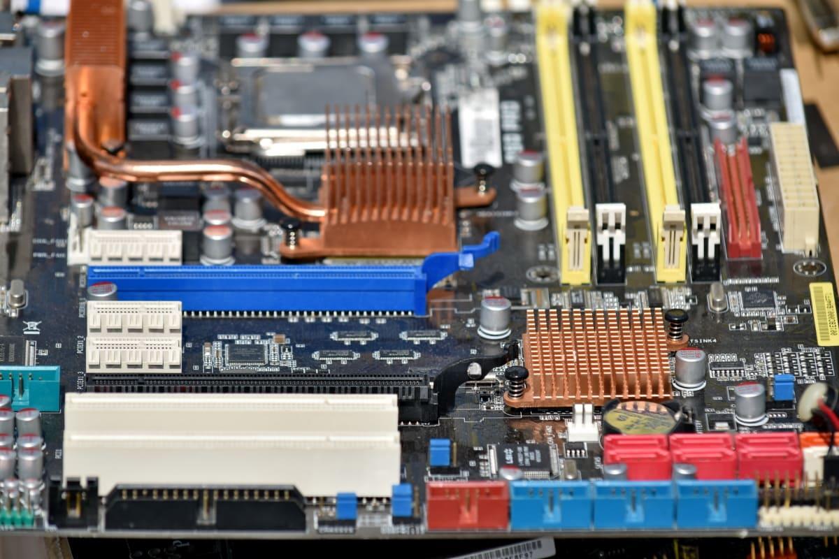 elektronik, teknologi, kredsløb, bundkort, chip, industri, komponent, elektricitet, maskiner, johdin