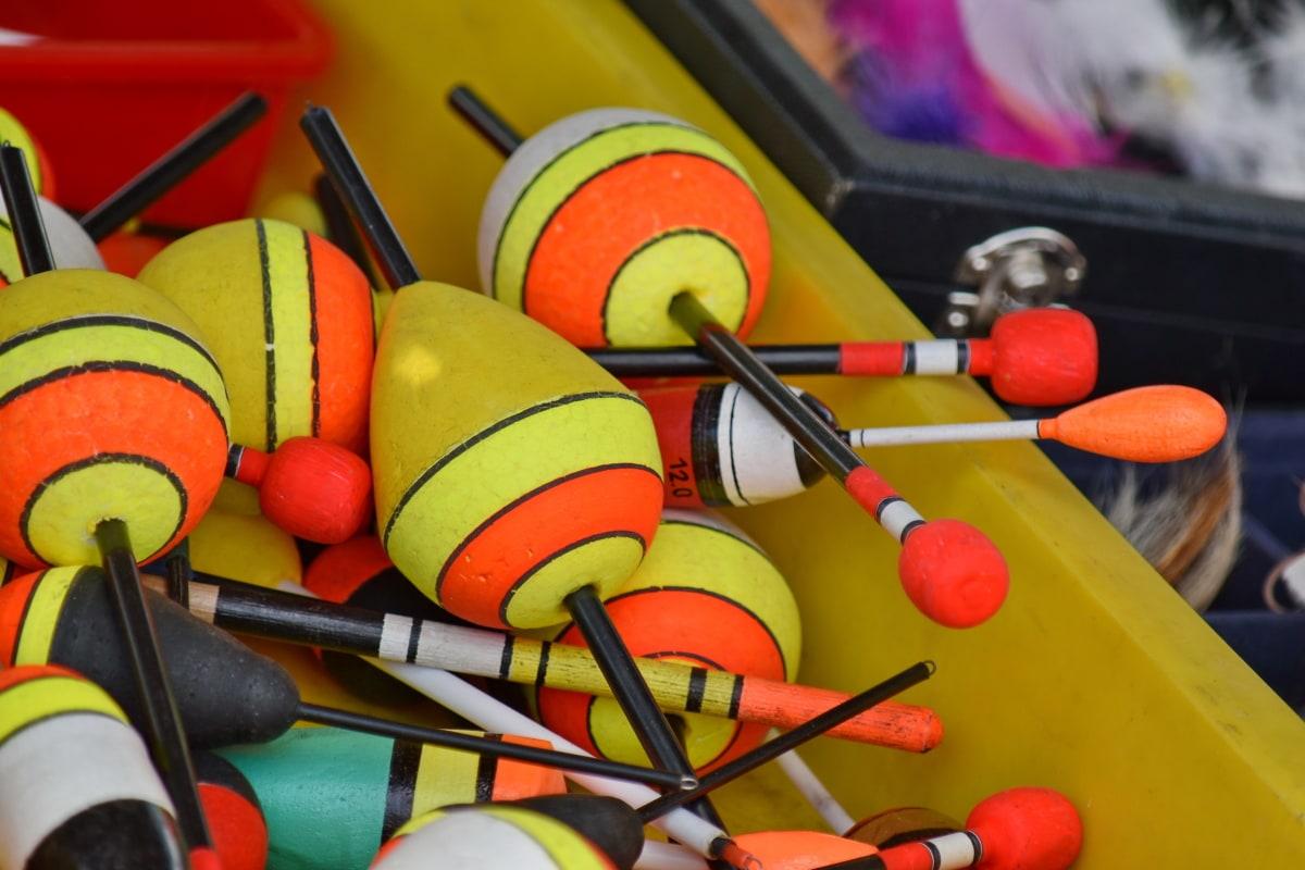 fiskeredskap, objektet, verktøyet, farge, tradisjonelle, rekreasjon, kreativitet, instrumentet, håndlaget, fargerike