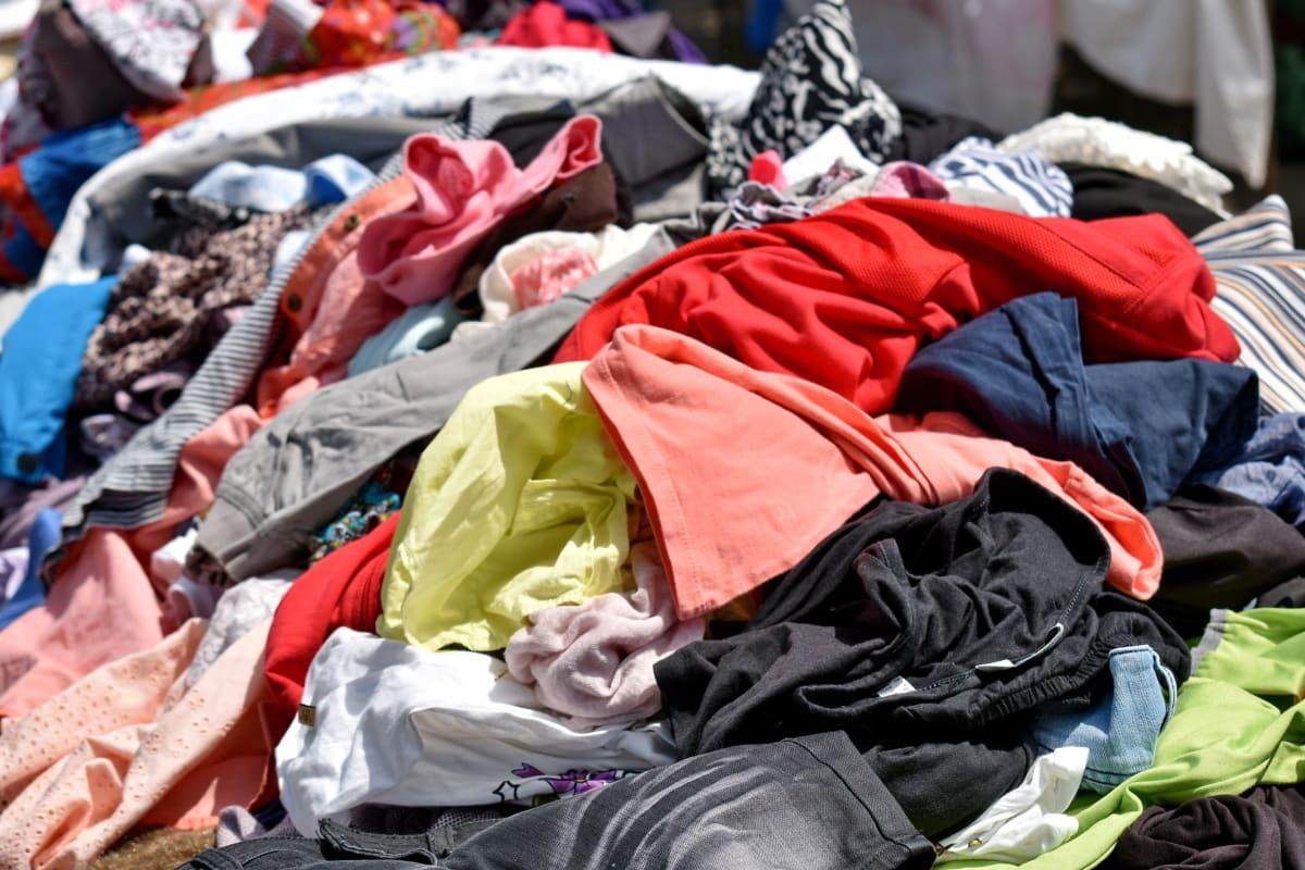 Ρούχα, πολύχρωμα, πολλά, αγορά, αγορά, σωρός, πουκάμισο, ΤΕΞΤΙΛ, Ψώνια, Χρηματιστήριο