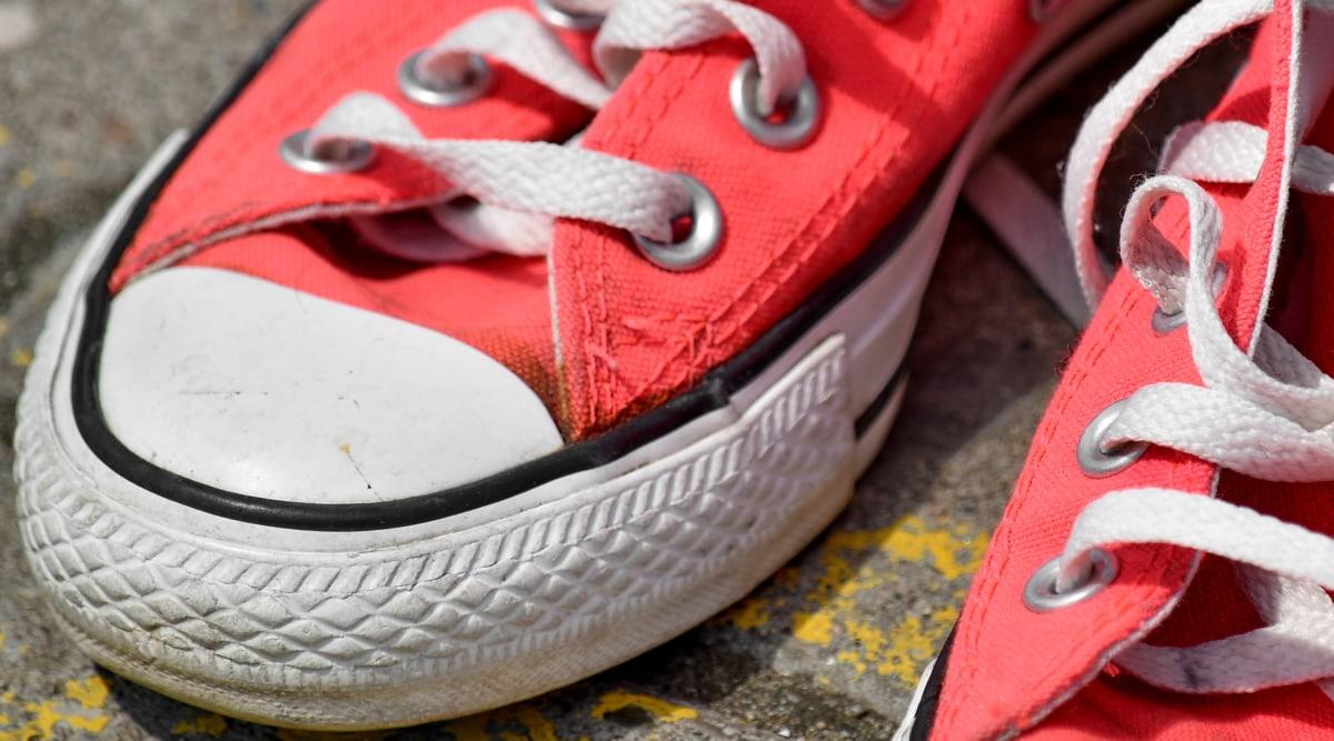 สีชมพู, รองเท้าผ้าใบ, หนัง, รองเท้า, แฟชั่น, เชือกรองเท้า, สี, สันทนาการ, สตรีท, คลาสสิก