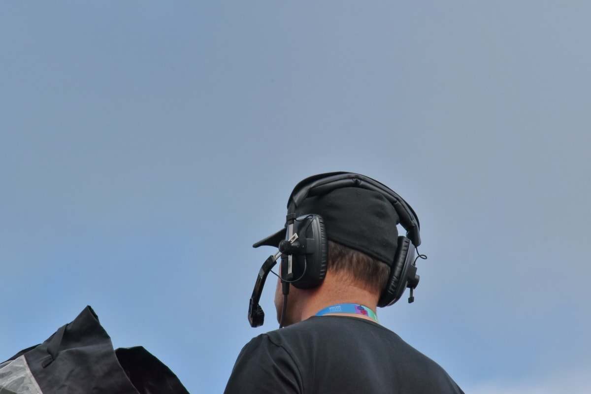 microfono, verticale, vista laterale, televisione notizie, registrazione video, persone, uomo, tempo libero, natura, divertimento