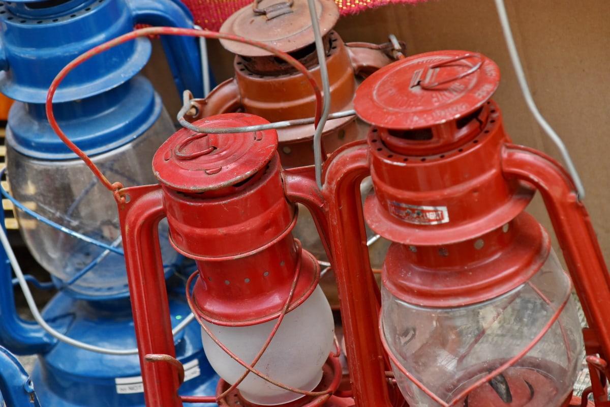 staklo, lampa, metal, kontejner, stari, nafte, benzin, oprema, industrija, čelik