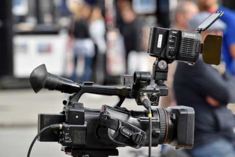 television, television news, video recording, equipment, lens, camera, tripod, machinery, electronics, camcorder