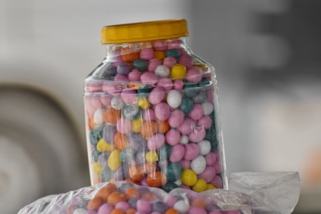 candy, jar, confectionery, container, food, color, sugar, health, vertical, many