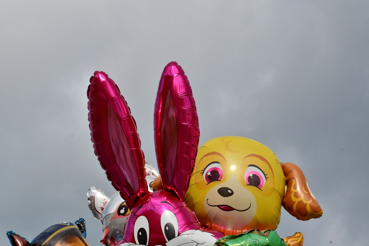 helium, plastic, balloon, toy, traditional, rabbit, art, fantasy, entertainment, colorful