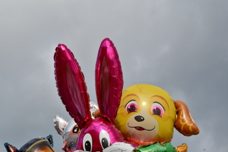 hélium, plastique, ballon, jouet, traditionnel, lapin, art, Fantasy, divertissement, coloré