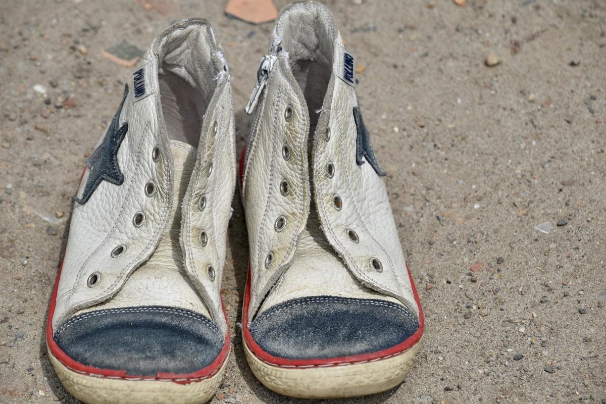 alas kaki, Sepatu, kulit, sepatu kets, Sepatu, mode, rekreasi, Tanah, musim panas, kotor