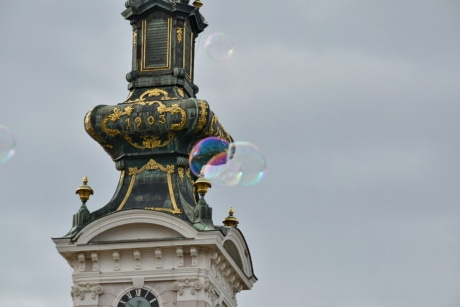 bubble, church tower, cathedral, dome, architecture, building, religion, church, old, statue