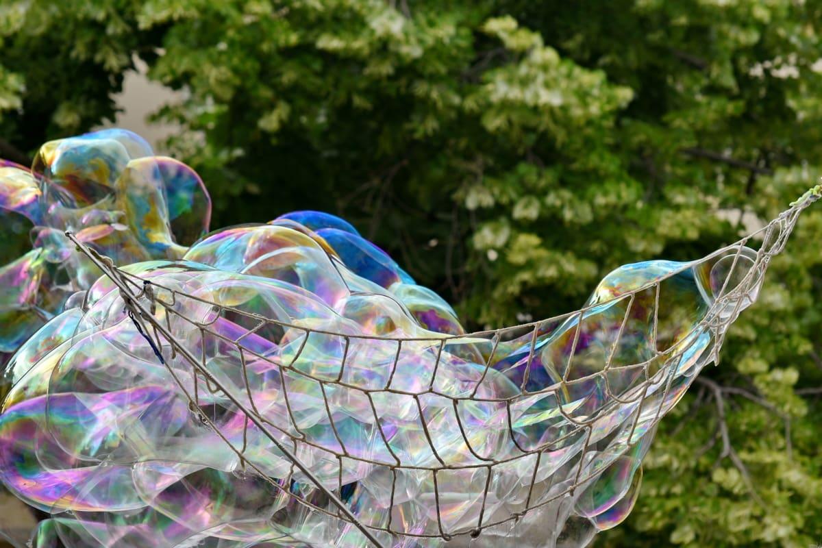 bubble, colourful, network, soap, street, color, decoration, bright, beautiful, motion
